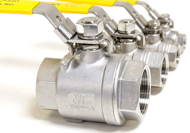 Ball Valves in Different Sizes